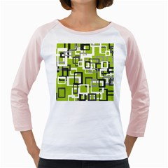 Pattern Abstract Form Four Corner Girly Raglans