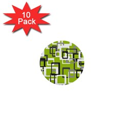 Pattern Abstract Form Four Corner 1  Mini Buttons (10 Pack)