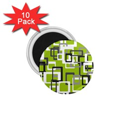 Pattern Abstract Form Four Corner 1.75  Magnets (10 pack)