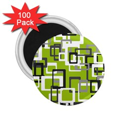 Pattern Abstract Form Four Corner 2.25  Magnets (100 pack)