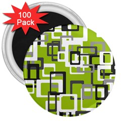 Pattern Abstract Form Four Corner 3  Magnets (100 Pack)
