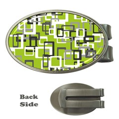 Pattern Abstract Form Four Corner Money Clips (Oval)