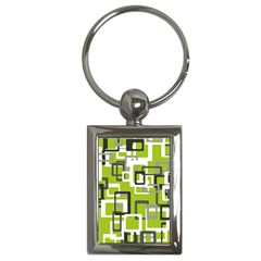 Pattern Abstract Form Four Corner Key Chains (rectangle)