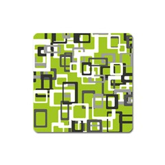 Pattern Abstract Form Four Corner Square Magnet