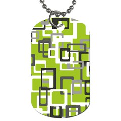 Pattern Abstract Form Four Corner Dog Tag (one Side)
