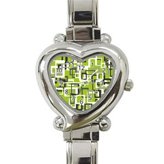 Pattern Abstract Form Four Corner Heart Italian Charm Watch
