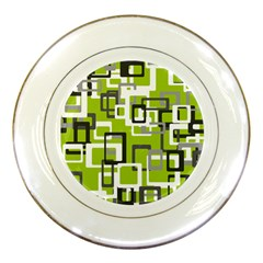 Pattern Abstract Form Four Corner Porcelain Plates