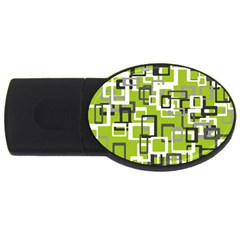 Pattern Abstract Form Four Corner Usb Flash Drive Oval (4 Gb)