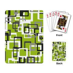 Pattern Abstract Form Four Corner Playing Card