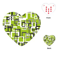 Pattern Abstract Form Four Corner Playing Cards (Heart)