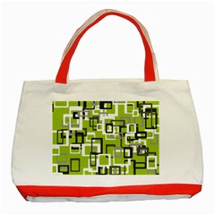 Pattern Abstract Form Four Corner Classic Tote Bag (Red)