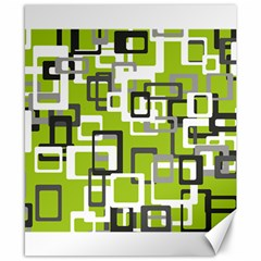 Pattern Abstract Form Four Corner Canvas 8  x 10