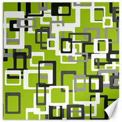 Pattern Abstract Form Four Corner Canvas 20  x 20