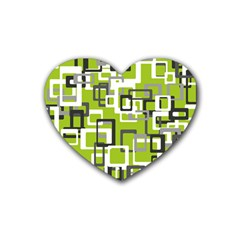Pattern Abstract Form Four Corner Rubber Coaster (heart)