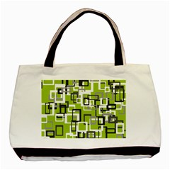Pattern Abstract Form Four Corner Basic Tote Bag (Two Sides)