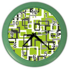 Pattern Abstract Form Four Corner Color Wall Clocks