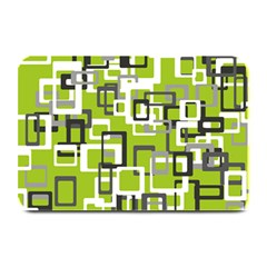 Pattern Abstract Form Four Corner Plate Mats