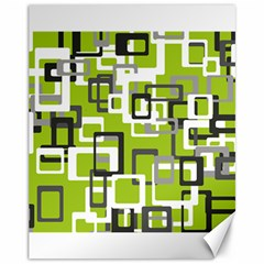 Pattern Abstract Form Four Corner Canvas 11  X 14