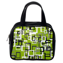 Pattern Abstract Form Four Corner Classic Handbags (One Side)