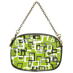 Pattern Abstract Form Four Corner Chain Purses (One Side)