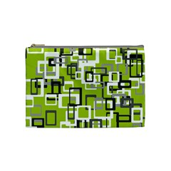 Pattern Abstract Form Four Corner Cosmetic Bag (medium)