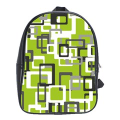 Pattern Abstract Form Four Corner School Bags(large)