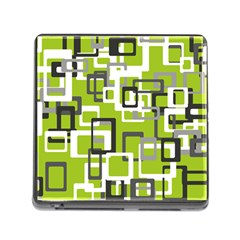 Pattern Abstract Form Four Corner Memory Card Reader (Square)