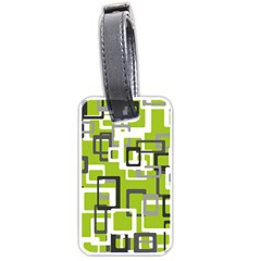 Pattern Abstract Form Four Corner Luggage Tags (One Side)