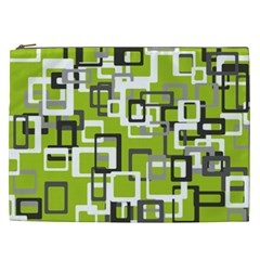 Pattern Abstract Form Four Corner Cosmetic Bag (XXL)