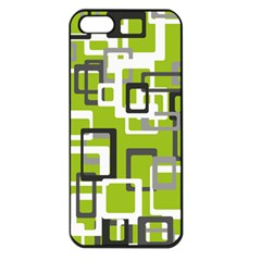 Pattern Abstract Form Four Corner Apple Iphone 5 Seamless Case (black)