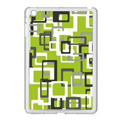 Pattern Abstract Form Four Corner Apple Ipad Mini Case (white)