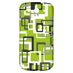 Pattern Abstract Form Four Corner Samsung Galaxy S3 S Iii Classic Hardshell Back Case