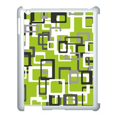 Pattern Abstract Form Four Corner Apple iPad 3/4 Case (White)