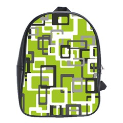Pattern Abstract Form Four Corner School Bags (XL)