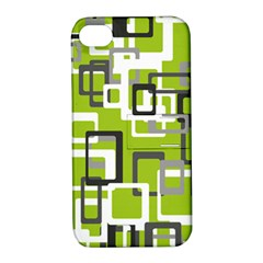 Pattern Abstract Form Four Corner Apple Iphone 4/4s Hardshell Case With Stand