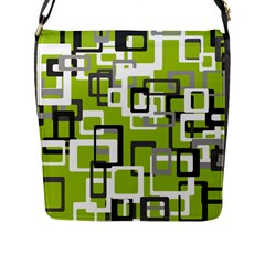 Pattern Abstract Form Four Corner Flap Messenger Bag (L)