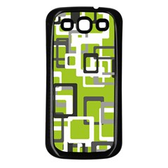 Pattern Abstract Form Four Corner Samsung Galaxy S3 Back Case (black)