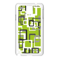 Pattern Abstract Form Four Corner Samsung Galaxy Note 3 N9005 Case (white)