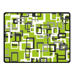 Pattern Abstract Form Four Corner Double Sided Fleece Blanket (small)