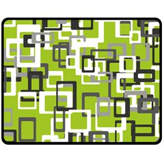 Pattern Abstract Form Four Corner Double Sided Fleece Blanket (medium)