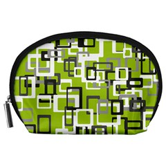 Pattern Abstract Form Four Corner Accessory Pouches (Large)