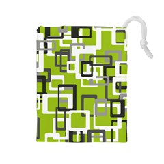 Pattern Abstract Form Four Corner Drawstring Pouches (large)