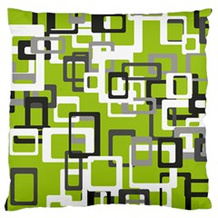Pattern Abstract Form Four Corner Large Flano Cushion Case (one Side)