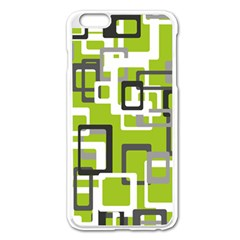 Pattern Abstract Form Four Corner Apple Iphone 6 Plus/6s Plus Enamel White Case