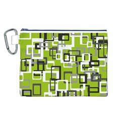 Pattern Abstract Form Four Corner Canvas Cosmetic Bag (l)