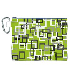 Pattern Abstract Form Four Corner Canvas Cosmetic Bag (XL)