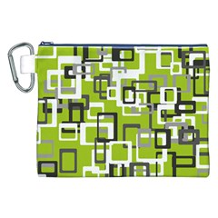 Pattern Abstract Form Four Corner Canvas Cosmetic Bag (XXL)