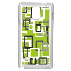Pattern Abstract Form Four Corner Samsung Galaxy Note 4 Case (white)