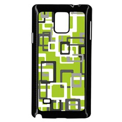 Pattern Abstract Form Four Corner Samsung Galaxy Note 4 Case (black)