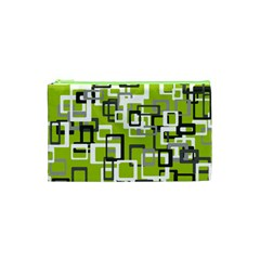Pattern Abstract Form Four Corner Cosmetic Bag (xs)